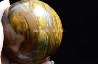 NATURAL Pretty Tiger Eye Quartz BALL Crystal Sphere Orb 1286g Healing Free Shipping
