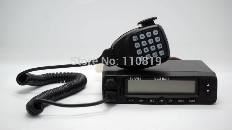 big LCD and MIC radio walkie talkie used for car baojie BJ-UV55 transmitting selection in dual srandby(China (Mainland))