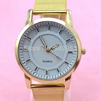 2014 New Fashion Style Watch Ladies Luxury Brand Gold Colors Alloy Straps Watch Quartz Analog