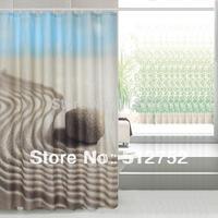 Bathroom products Fabric Shower Curtain 180x200cm bath curtain bathroom curtain waterproof w/ shower hooks black desert stone