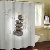 Bathroom products Fabric Shower Curtain 180x200cm bath curtain bathroom curtain shower cortina waterproof curtain Zen stones