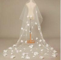 New 1 Layer Long White Wedding Bridal Veil