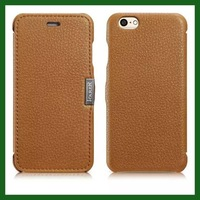 For iphone 6 original icarer brand real cowhide natural cow skin Genuine leather phone cover case for iphone 6 MOQ 1pc 5 color