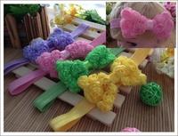 30pcs baby infant hair accessories chiffon ribbon rose bowknot hairband hair flower headband headwear girls
