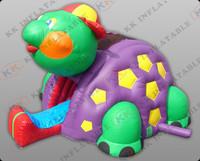 lovely tortoise bouncer slide inflatable slip n slide  KKDS-L021