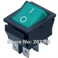 5pcs DPDT Green Indicator Light 6 Pin Rocker Switch =*