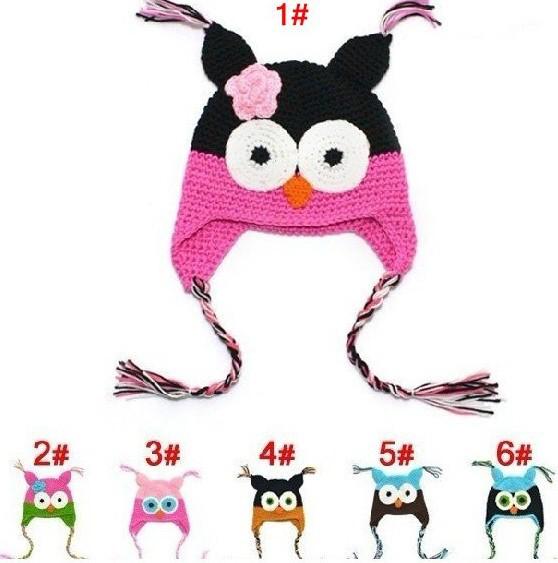 Winter Baby Hat Bestseller 100% Cotton Handmade Children Crochet Hats Various Animal Styles Beanie Knit Hat Kids Flower Cap(China (Mainland))