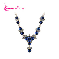 Blue Black Green Color Rhinestone Shiny Choker Necklace For Party New Coming 2014  Fashion Bijoux Women