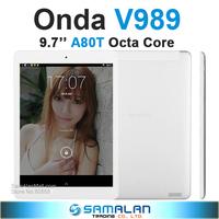 9.7'' Onda V989 Tablet PC Allwinner A80T Octa Core 2.0GHz Retina 2048x1536 Android 2GB RAM 32GB ROM