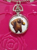 free shipping 10pcs/lot Pretty cute bear watches Quartz Pocket watches necklace watches for Woman ladies girls children boy H80