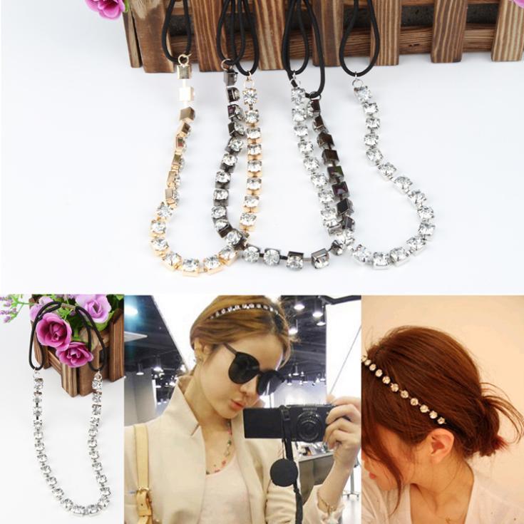Hot Girl Rhinestone Bridal Elastic Headband Hair Band Crystal Cuff Wrap Jewelry Fashion Accessories Drop Shipping HDR-0126\br(China (Mainland))
