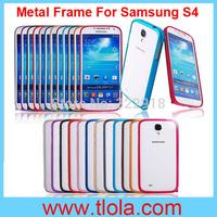 100pcs/Lot Free Shipping to Brasil: Best Super Thin Slim Aluminum Alloy Frame for Samsung S4 I9500