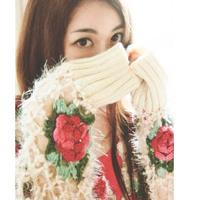 2015 New Arrival Women Sweater The Cyanine Show Beautiful Hand Hook Stereo Rose Ma Haimao Manual Flower Cardigan Sweater Ym0298
