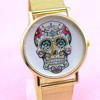 Metal soft strap fashion bright drill mesh belt line mirror wrist watches gift free shipping
