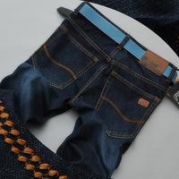 2014 tide male Korean version of casual fashion men's jeans Slim Straight jeans brand men's pants men