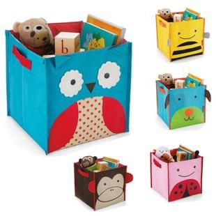 Animal Styles SKP Children's Toys Storage Box Zoo Storage Bins Storage Bag Folding Canvas Owl Bee Dog Ladybug Monkey(China (Mainland))