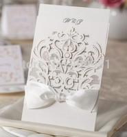 2015Teda Wishmade Best Sale Laser Cut Wedding Invitation Card  blank insert with Envelope WM200