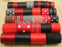 Free shipping Mixed 36 style satin Christmas ribbon series ribbon DIY ribbon embroidery