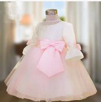2 2014 new flare long sleeve flower girl dresses for weddings girls pageant dresses prom dress children vestido de daminha 2015