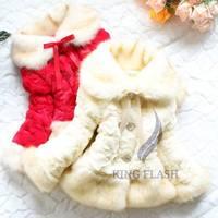 New Design Girls Fur Coat Winter Trendy Design Children Fur Outerwear Jacket Warm Child Thickening Clothing SV008294