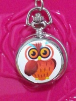 free shipping 10pcs/lot Pretty cute owl watches Quartz Pocket watches necklace watches for Woman ladies girls children boy H83