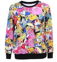 901 2014 Fashion Women/Men rihanna Pullovers 3D sweatshirt advebture time series printed sweaters casual Hoodies top blouse