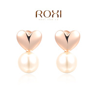 ROXI Fashion Jewelry Accessories Gold Plated New Style Pearl  Drop Earrings Love Gift for Women