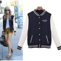 2014 New sweater coat hoodies sweatshirt Autumn winter Baseball jacket women's casual long-sleeved warm outwear WC0306