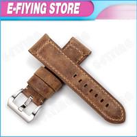 watch band 24mm Genuine Brown Leather watch strap 24 mm watchband PAM Assolutamente watch bracelet for  PANERAI Luminor