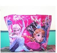 50pcs/lots 2014 New hot arrival Frozen shopping bag waterproof bag nylon bag