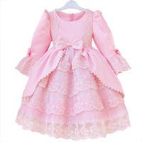 3 2014 long sleeve  flower girl dresses for weddings girls pageant dresses princess prom dress children vestido de daminha 2015