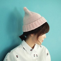 Fashion 2014 Ice Cream Beanies Hat Winter Pure Color Knitting Caps Beanies Skullies for Women Bonnets HTZZM-426