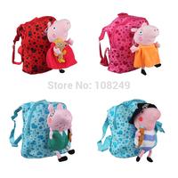 New Arrival Peppa Pig Doll Backpack Children Cartoon Heart Pepe Pig Doll Kis Student School Bag Mochila Infantil