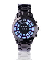 Latest Fashionable Men's Watch Movement Korean LED watches