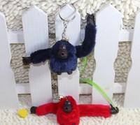 wholesale 10pcs/lot 2014 3D Cute Monkey shoulder bag accessories Messenger monkey Bag accessories monkey Key Chain