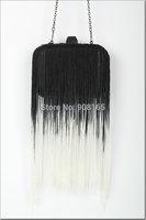 Free Shipping New 2014 Autumn and winter Tassel Women Clutch Black Women Handbags Chain Evening Bags