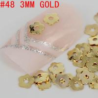 New! special flower shaped 500pcs 3d metal nail art decoration free shipping Gold/Silver Nail Art Metallic Studs sticker