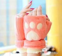 Woman Gloves Warm Velvet Half Finger Gloves Winter Gloves