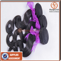 Hot Selling in Aliexpress Peruvian Virgin Hair Human Hair Weaves Wavy,Shangkai Hair Wavy 6pcs/lot Mix Length