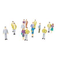 20pcs G Scale 1:25 Mix Painted Model People Train Park Street Passenger Figures Plastic Crafts