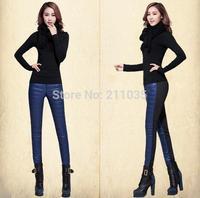 Female plus size autumn plus Velvet Thickening down leggings Pants woman Outer Wear pencil down Stretch trousers G520 8810#