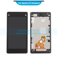 10pcs Black LCD Digitizer Touch Screen Display with Frame Assembly For Sony Xperia Z1 Mini Compact Z1c M51W D5503 replacement