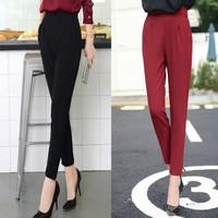 Wholesale New Arrival Women's Casual Trousers Fashion OL Temperament Waist Stretch Pants Feet Pants M / L / XL / XXL