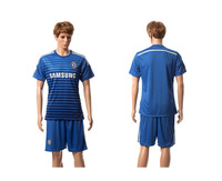High  Quality   Chelsea Home  blue tracksuits    2015    Soccer Jerseys      Football  Kit  Free Shipping
