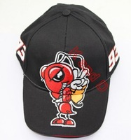 Free shiping Wholesale embroidery 93 baseball cap hat motorcycle racing cap sport baseball cap Glof for Marc Marquez  black red