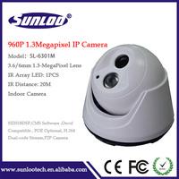 "960P Indoor camera 1.3Megapixel ip camera 1/3"" Cmos sensor Support P2P and Onvif ip camera"