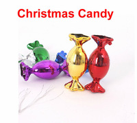 12 pcs/lot Christmas Candy 7cm beautiful sweet Christmas decoration gift for Christmas celebration Xmas tree display