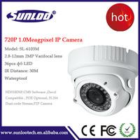 wholesale 1.0Megapixel ip camera 2.8-12mm varifocal lens camera 720P waterproof ip cam