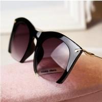 fashion brand cc steampunk Sunglasses women 2014 vintage semi-rimless half box sun glasses oculos feminino free shipping .y647
