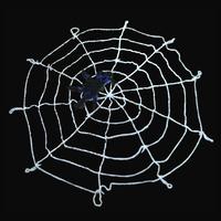 4.9FT Black/White Rope Halloween Large Big Spider Web Webbing Bar Decoration   95696